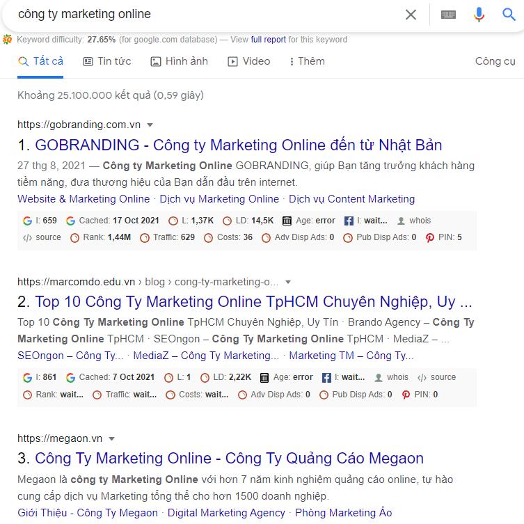 tìm kiếm công ty Marketing online