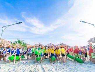 Team building tại bãi biển
